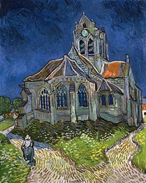 The Church at Auvers-sur-Oise, 1890 von Vincent van Gogh | Gemälde-Reproduktion