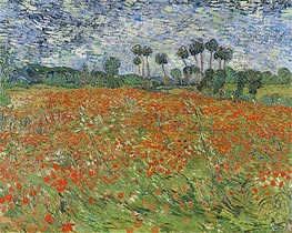 Field with Poppies, 1890 von Vincent van Gogh | Gemälde-Reproduktion
