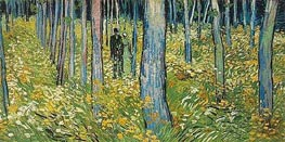 Undergrowth with Two Figures, 1890 by Vincent van Gogh | Painting Reproduction