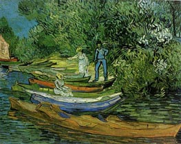 Bank of the Oise at Auvers, 1890 von Vincent van Gogh | Gemälde-Reproduktion
