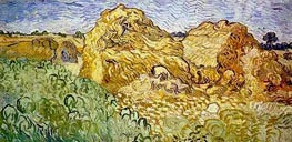 Field with Wheat Stacks, 1890 by Vincent van Gogh | Painting Reproduction