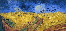 Wheat Field with Crows, 1890 von Vincent van Gogh | Gemälde-Reproduktion
