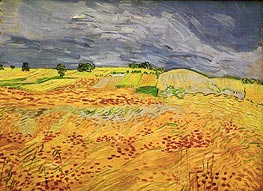 Plain at Auvers, July 1890 by Vincent van Gogh | Painting Reproduction