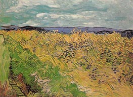 Wheat Field with Cornflowers, July 1890 von Vincent van Gogh | Gemälde-Reproduktion
