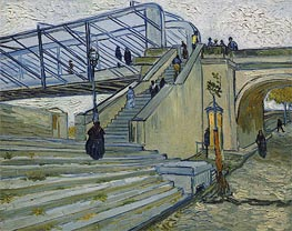 The Trinquetaille Bridge, 1888 by Vincent van Gogh | Painting Reproduction