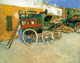 Tarascon Stagecoach, 1888 by Vincent van Gogh | Painting Reproduction