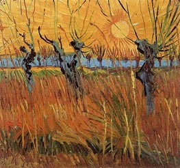 Willows at Sunset, 1888 by Vincent van Gogh | Painting Reproduction