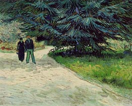 Couple in the Park, Arles, 1888 by Vincent van Gogh | Painting Reproduction