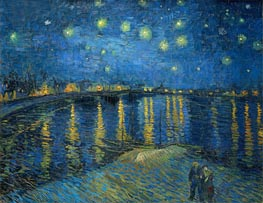 Starry Night over the Rhone, 1888 by Vincent van Gogh | Painting Reproduction