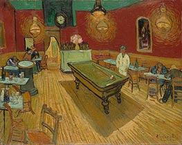 The Night Cafe in the Place Lamartine in Arles, 1888 by Vincent van Gogh | Painting Reproduction