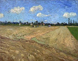 The Plowed Field, 1888 by Vincent van Gogh | Painting Reproduction