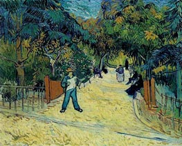 Entrance to the Public Garden in Arles, 1888 by Vincent van Gogh | Painting Reproduction
