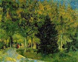 A Lane in the Public Garden at Arles, September by Vincent van Gogh | Painting Reproduction