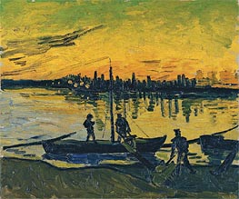 Coal Barges, 1888 by Vincent van Gogh | Painting Reproduction