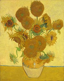 Still Life: Vase with Fourteen Sunflowers, 1888 by Vincent van Gogh | Painting Reproduction