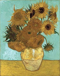 Still Life - Vase with Twelve Sunflowers | Vincent van Gogh | Gemälde Reproduktion