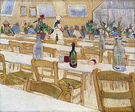 Interior of the Restaurant Carrel in Arles, 1887 by Vincent van Gogh | Painting Reproduction