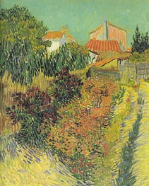 Garden Behind a House, August 188 by Vincent van Gogh | Painting Reproduction