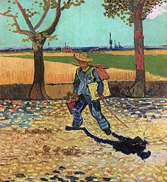 The Painter on His Way to Work, July 1888 by Vincent van Gogh | Painting Reproduction
