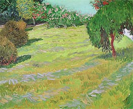 Sunny Lawn in a Public Park | Vincent van Gogh | Painting Reproduction