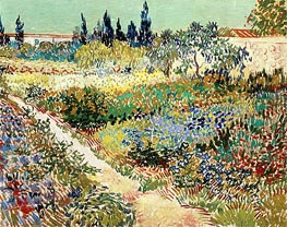 Flowering Garden with Path | Vincent van Gogh | Painting Reproduction