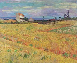Wheat Field, June 1888 von Vincent van Gogh | Gemälde-Reproduktion