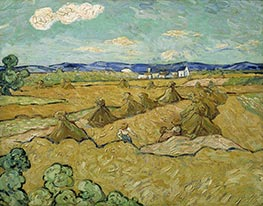 Wheat Stacks with Reaper | Vincent van Gogh | Painting Reproduction