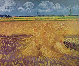 Wheat Field with Sheaves, June 1888 von Vincent van Gogh | Gemälde-Reproduktion
