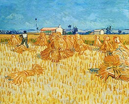 Harvest in Provence, 1888 by Vincent van Gogh | Painting Reproduction
