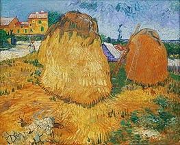 Haystacks in Provence, 1888 von Vincent van Gogh | Gemälde-Reproduktion