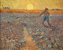 The Sower, 1888 von Vincent van Gogh | Gemälde-Reproduktion