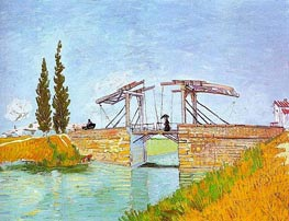 The Langlois Bridge at Arles, May 1888 by Vincent van Gogh | Painting Reproduction