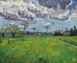 Landscape under Stormy Skies | Vincent van Gogh | Painting Reproduction