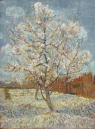 Peach Tree in Blossom, April-May von Vincent van Gogh | Gemälde-Reproduktion