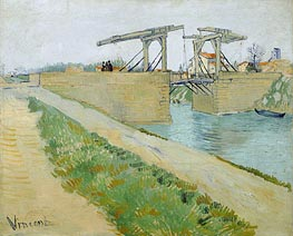 The Langlois Bridge at Arles with Road Alongside, 1888 von Vincent van Gogh | Gemälde-Reproduktion