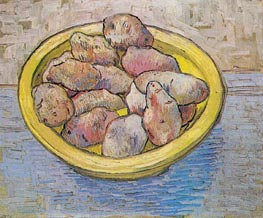 Still Life: Potatoes in a Yellow Dish, March 1888 by Vincent van Gogh | Painting Reproduction