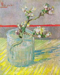 Blossoming Almond Branch in a Glass, 1888 von Vincent van Gogh | Gemälde-Reproduktion