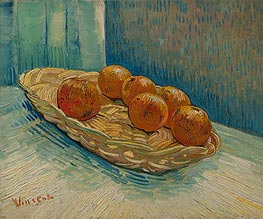 Still Life with Basket of Six Oranges | Vincent van Gogh | Painting Reproduction