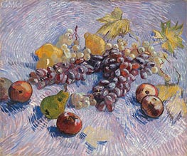 Still Life with Grapes, Apples, Pears and Lemons | Vincent van Gogh | Painting Reproduction
