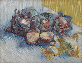 Still Life with Red Cabbages and Onions | Vincent van Gogh | Painting Reproduction