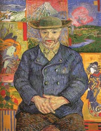 Portrait of Pere Tanguy | Vincent van Gogh | Painting Reproduction