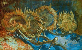 Four Cut Sunflowers | Vincent van Gogh | Painting Reproduction