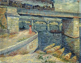Bridges Across the Seine at Asnieres | Vincent van Gogh | Painting Reproduction