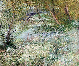 Banks of the Seine with Pont de Clichy in Spring | Vincent van Gogh | Painting Reproduction