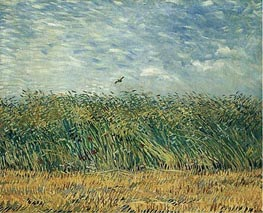 Wheat Field with a Lark | Vincent van Gogh | Painting Reproduction