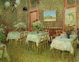 Interior of a Restaurant, 1887 by Vincent van Gogh | Painting Reproduction