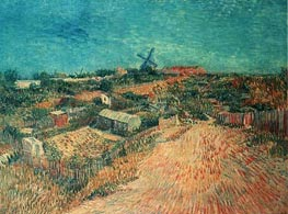 Vegetable Gardens in Montmartre: La Butte Montmart, June-July by Vincent van Gogh | Painting Reproduction