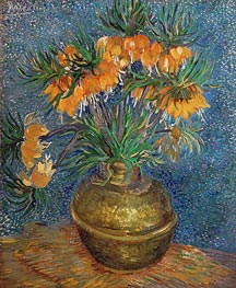 Crown Imperial Fritillaries in a Copper Vase, 1886 by Vincent van Gogh | Painting Reproduction