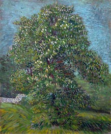 Chestnut Tree in Blossom, 1887 by Vincent van Gogh | Painting Reproduction