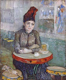 Agostina Segatori Sitting in the Cafe du Tambourin, c.1887/88 by Vincent van Gogh | Painting Reproduction